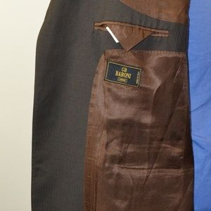 Baroni Suits & Blazers - Baroni 48R Sport Coat Blazer Suit Jacket Dark Brow